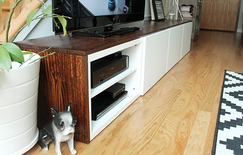 Awesome Deluxe Modern Low Profile TV Stands With Regard To We Built A Tv Stand Unusually Lovely (View 46 of 50)