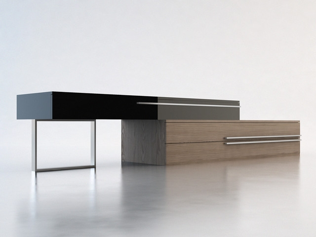 Awesome Deluxe Modern Walnut TV Stands Throughout Contemporary Tv Cabinets Capitangeneral (Image 1 of 50)