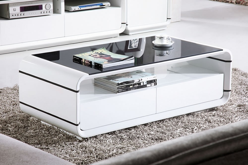 Awesome Deluxe Oval Gloss Coffee Tables Intended For Coffee Table Awesome Coffee Table White In Your Room Round White (Image 2 of 40)