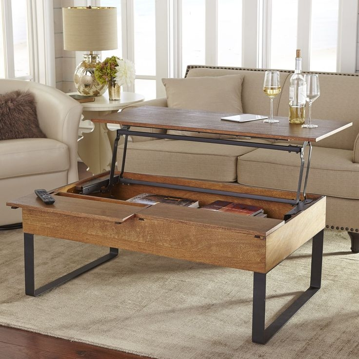 Awesome Deluxe Pull Up Coffee Tables Inside Top 25 Best Lift Top Coffee Table Ideas On Pinterest Used (Image 4 of 50)