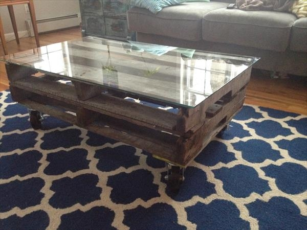 Awesome Deluxe Reclaimed Wood And Glass Coffee Tables For Diy Rustic Pallet Wood Coffee Table With Hairpin Legs Pallet (View 31 of 50)