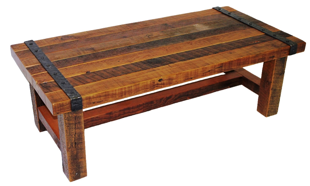 Awesome Deluxe Rustic Barnwood Coffee Tables Within Reclaimed Rustic Woodworks (View 2 of 50)