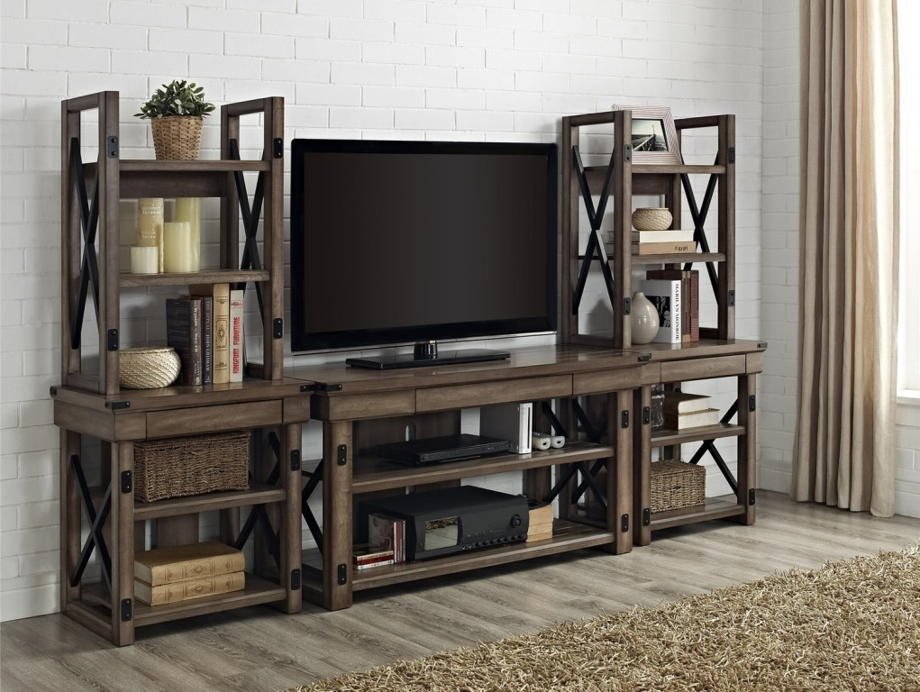 Awesome Deluxe Rustic TV Stands With Regard To Tv Stands Great Unfinished Rustic Tv Stands For Flat Screens (Image 3 of 50)