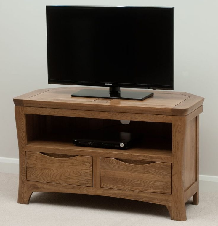 Awesome Deluxe Solid Oak Corner TV Cabinets Throughout Best 25 Oak Corner Tv Stand Ideas On Pinterest Corner Tv (Image 5 of 50)