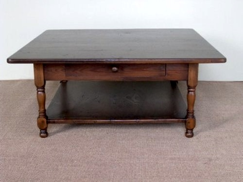 Awesome Deluxe Square Oak Coffee Tables In Farmhouse Coffee Tables (Image 3 of 50)