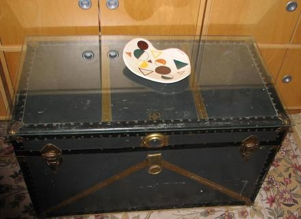 Awesome Deluxe Steamer Trunk Stainless Steel Coffee Tables In Steamer Trunk Coffee Table Stainless Steel Jericho Mafjar Project (Image 3 of 50)