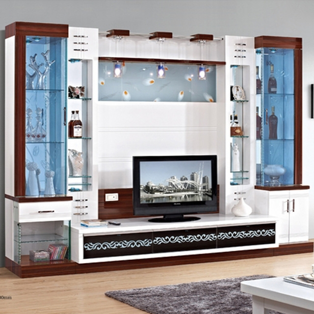 Awesome Deluxe Wall Display Units & TV Cabinets Throughout Tv Cabinet Cover Tv Cabinet Modern Brief Fashion Glass Cabinet (Image 8 of 50)