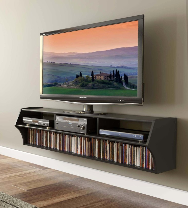 Awesome Deluxe Wall Mounted TV Stands For Flat Screens Intended For Furniture Perfect Tv Stands For Flat Screens Design Ideas (Image 6 of 50)