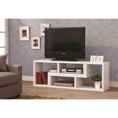 Awesome Deluxe White And Wood TV Stands Intended For White Wood Tv Stand Steal A Sofa Furniture Outlet Los Angeles Ca (Image 9 of 50)
