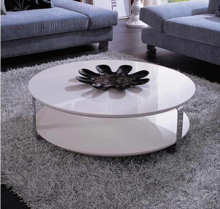 Awesome Deluxe White Circle Coffee Tables Throughout Best 25 White Round Coffee Table Ideas Only On Pinterest (Image 2 of 50)