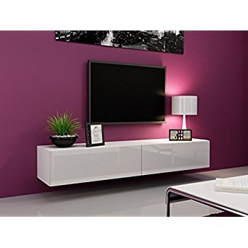 Awesome Deluxe White Wall Mounted TV Stands Within Amazon South Shore Agora Wall Mounted Media Console  (Image 8 of 50)