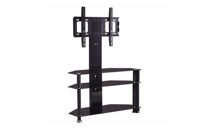 Awesome Elite Cantilever TV Stands Intended For Tempered Glass Tv Stand Cantilever Wbracket For 32 55 Lcd Tv (Image 4 of 50)