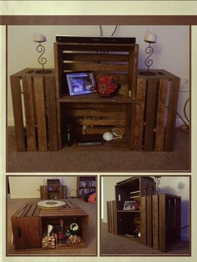 Image Result For Diy Wood Crate Coffee Table