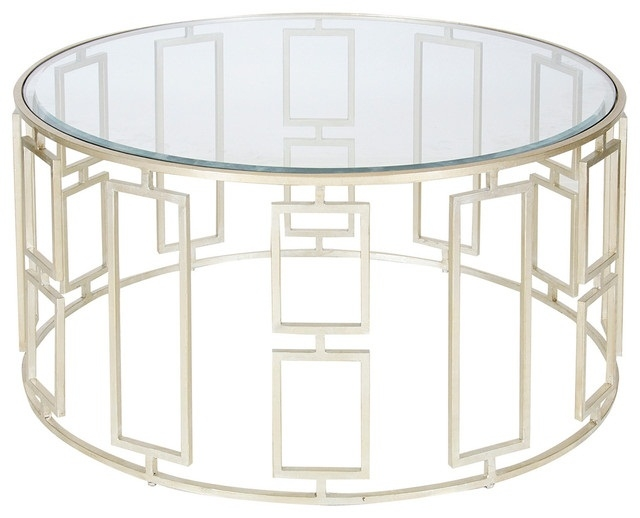 Awesome Elite Coffee Tables Glass And Metal With Regard To Alluring Round Glass Coffee Table Metal Base Large Round Metal (Image 4 of 50)
