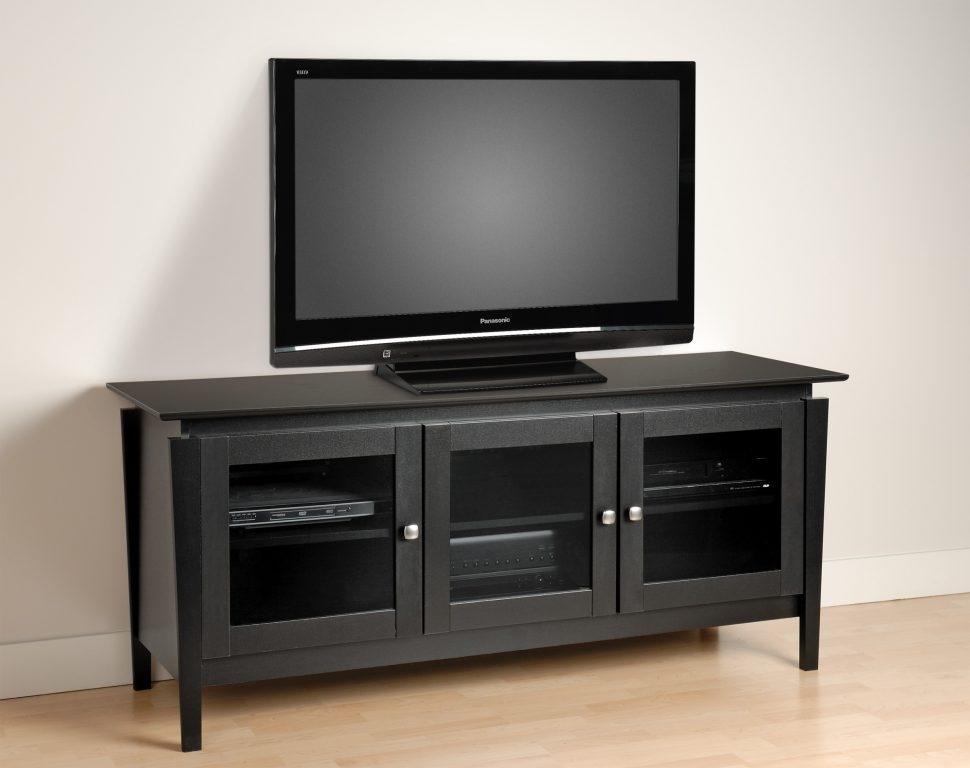 Awesome Elite Enclosed TV Cabinets For Flat Screens With Doors Inside Living Room Furniture Black Grey Enclosed Tv Cabinets Flat (Image 5 of 50)