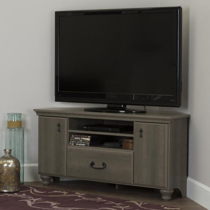 Awesome Elite Flat Screen TV Stands Corner Units Within Best 25 Small Corner Tv Stand Ideas On Pinterest Corner Tv (Image 2 of 50)