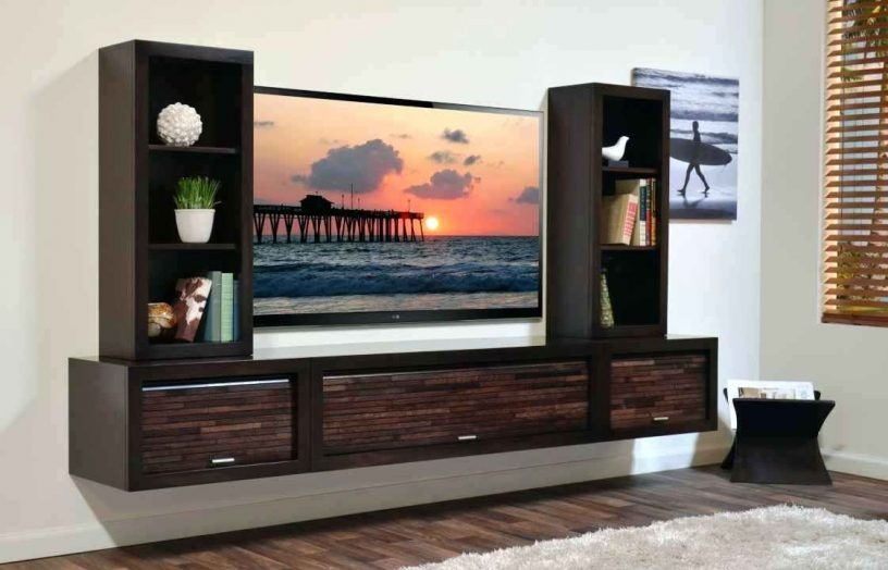 Awesome Elite Full Wall TV Cabinets Regarding Wall Mounted Floating Tv Standsfloating Stand Unit Melbourne (Image 6 of 50)