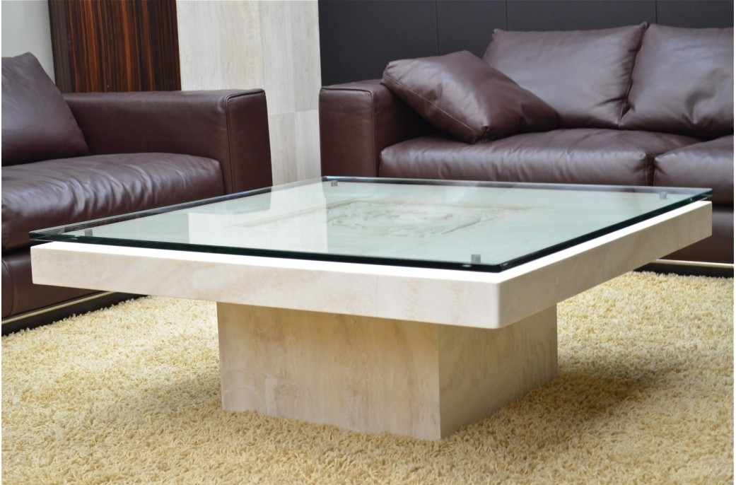 Awesome Elite Glass And Stone Coffee Table Inside Cool Of Stone Top Coffee Table Granite Coffee Table Top Stone (Image 4 of 50)