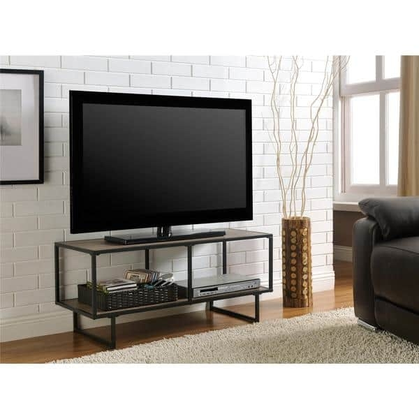 Awesome Elite Grey TV Stands Within Ameriwood Home Emmett Gunmetal Grey Tv Stand Free Shipping Today (Image 5 of 50)