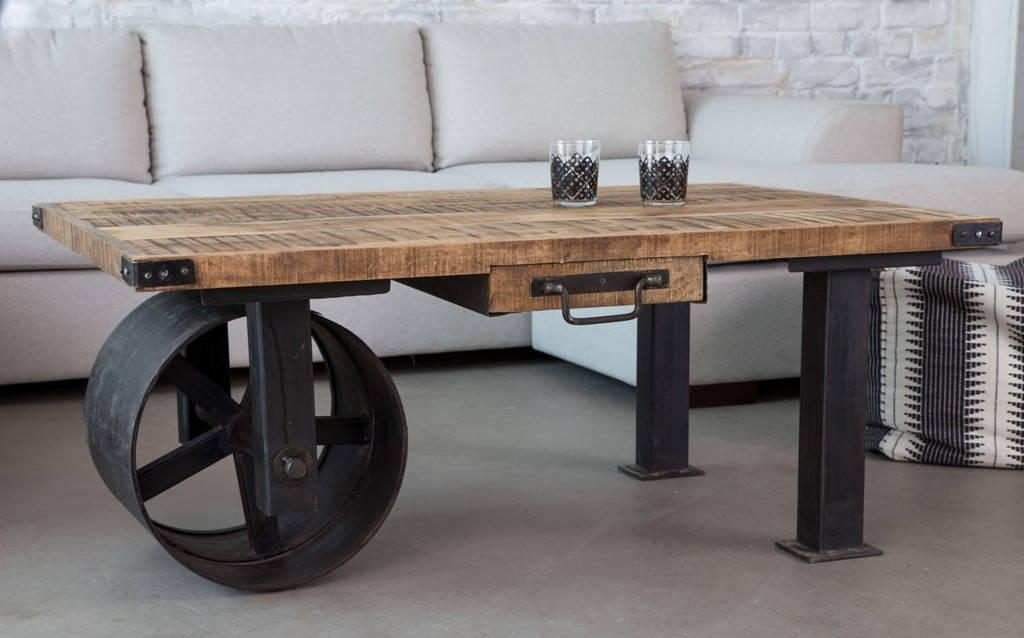 Awesome Elite Industrial Style Coffee Tables Throughout Furniture Industrial Style Coffee Table Ideas Coffee Tables With (Image 10 of 50)