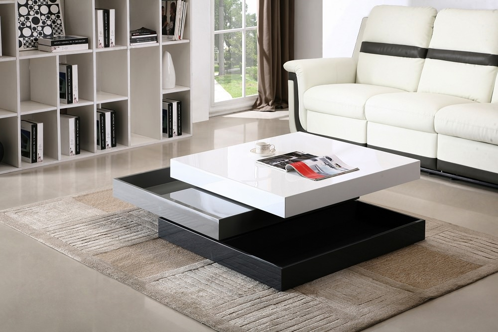 Awesome Elite Lacquer Coffee Tables With Regard To Modern Rotary Coffee Table Cw01 Jm Furniture (View 21 of 40)