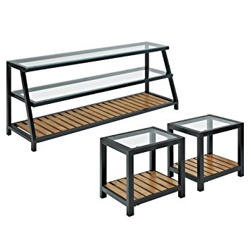 Awesome Elite Metal And Wood TV Stands Throughout Amazon Glass Metal Wood Tv Stand And Coffee Table Combo (Image 2 of 50)