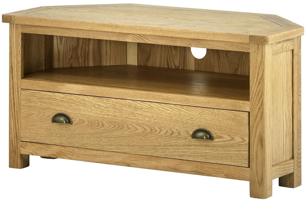 Awesome Elite Oak Corner TV Cabinets With Provence Oak Corner Tv Cabinet Oldrids Downtown Oldrids Co Ltd (Image 3 of 50)