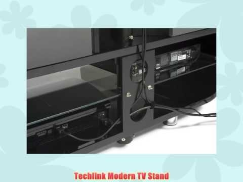 Awesome Elite Ovid TV Stands Black With Regard To Techlink Ovid Tv Stand Black With Screen Support Youtube (Image 5 of 50)