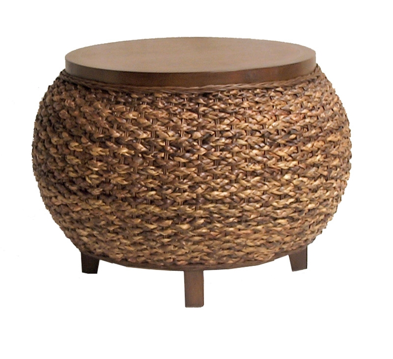 Awesome Elite Round Woven Coffee Tables Within Unique Woven Coffee Table Decor (Image 5 of 50)