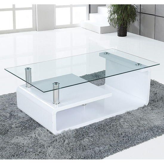 Awesome Elite White And Glass Coffee Tables In White Glass Coffee Table Set Glass White Coffee Table Frosted (Image 5 of 40)