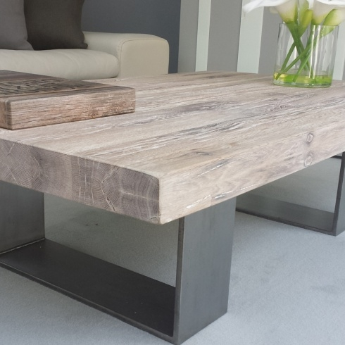 Awesome Elite White And Oak Coffee Tables Within White And Wood Coffee Table (Image 5 of 50)