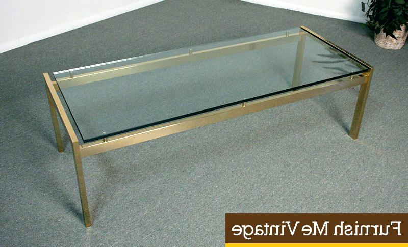 Awesome Famous Antique Brass Glass Coffee Tables In Two Tier Glass Coffee Table Blackbeardesignco (Image 6 of 50)