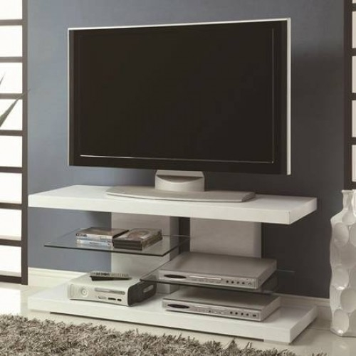Awesome Famous Art Deco TV Stands In New Art Deco Design Tv Stand Furniture Media Console White Finish 47w (Image 3 of 50)