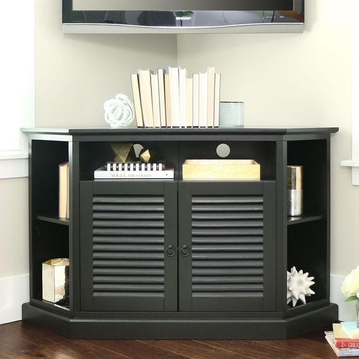 Awesome Famous Black Corner TV Cabinets With Best 25 Corner Tv Table Ideas On Pinterest Corner Tv Tv Stand (View 43 of 50)