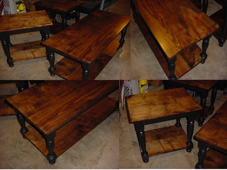 Awesome Famous Coffee Table With Matching End Tables Inside Custom Maple Top Coffee Table With Matching End Side Tables (Image 7 of 50)