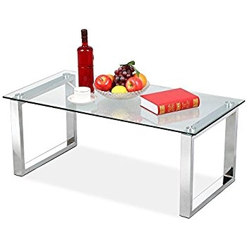 Awesome Famous Coffee Tables Glass And Metal Intended For Amazon Chrome Metal Glass Accent Coffee Cocktail Table With (View 44 of 50)