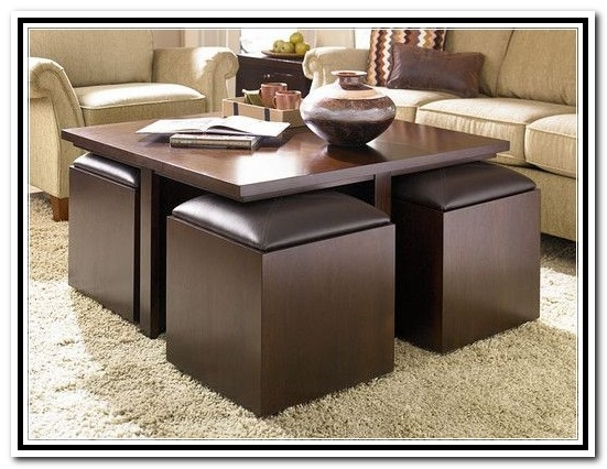 Awesome Famous Coffee Tables With Nesting Stools Intended For Coffee Tables With Nesting Ottomans Coffee Table Stools (Image 9 of 50)
