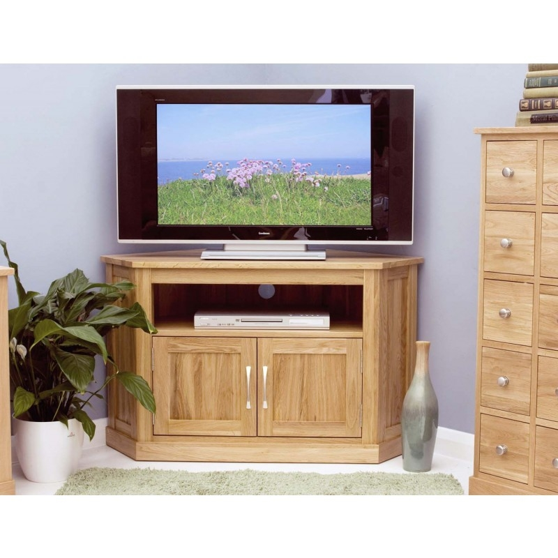 Awesome Famous Corner Oak TV Cabinets Within Modern Light Oak Tv Units Solid Oak Furniture At Zurleys Uk (View 36 of 50)