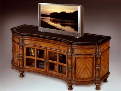 Awesome Famous Corner Oak TV Stands For Flat Screen In Cornertvstands (Image 7 of 50)