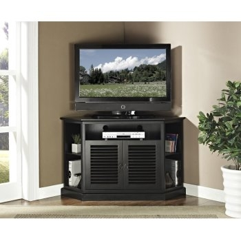 Awesome Famous Corner Wooden TV Cabinets Inside Corner Tv Stands Top 10 Best Rated Corner Tv Cabinets (View 25 of 50)