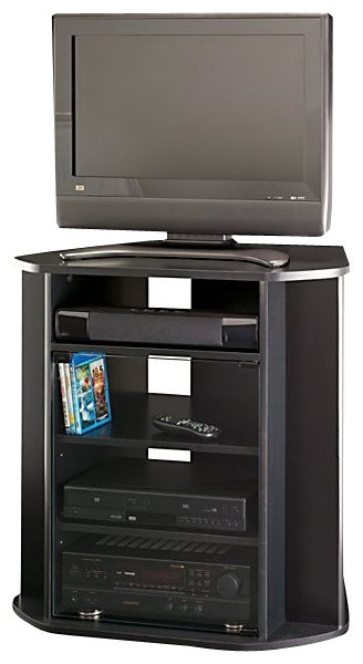 Awesome Famous Cornet TV Stands Within Tall Corner Tv Stand Black Finish Entertainment Centers And Tv (Image 6 of 50)