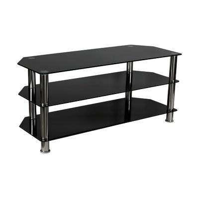 Awesome Famous Glass TV Stands Throughout Ebern Designs Anja Glass Tv Stand For Flat Screen Television (View 21 of 50)