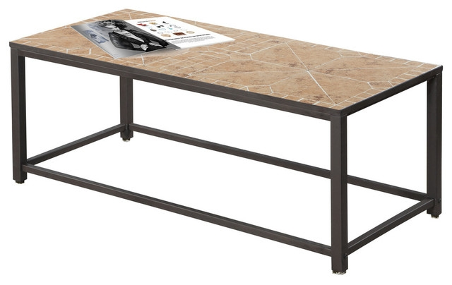 Awesome Famous Hammered Silver Coffee Tables Within Monarch Specialties Coffee Table Gray Blue Tile Top Hammered (Image 8 of 50)