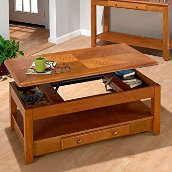 Awesome Famous Lift Coffee Tables Within Amazon Jofran 480 Series Wood Lift Top Cocktail Coffee (Image 4 of 50)