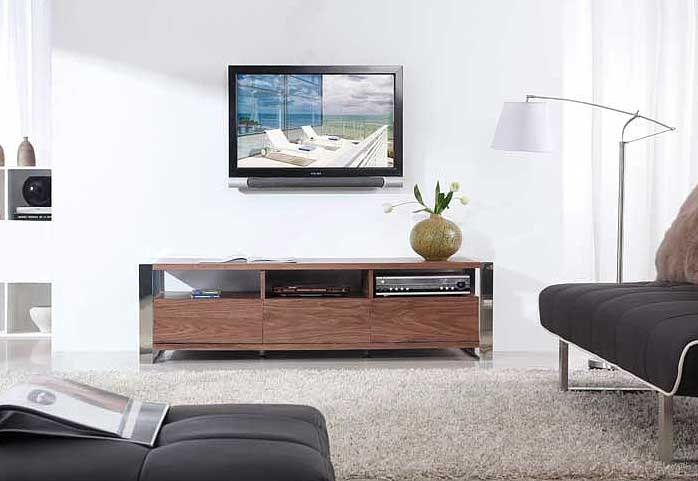 Awesome Famous Modern Walnut TV Stands With Regard To Modern Light Walnut Tv Stand Bm4 Tv Stands (Image 2 of 50)