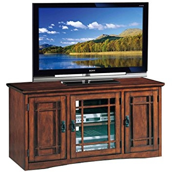 Awesome Famous Oak TV Stands For Flat Screens With Regard To Amazon Leick Riley Holliday Mission Tall Tv Stand 50 Inch (Image 10 of 50)
