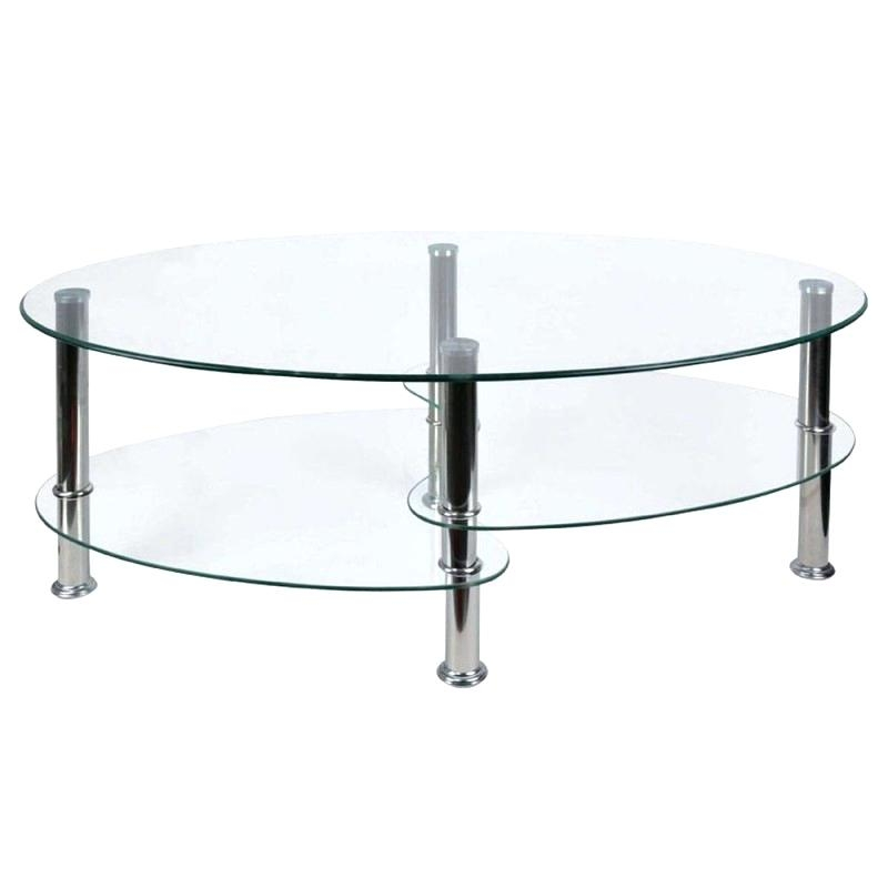 Awesome Famous Oval Glass Coffee Tables With Oval Glass Coffee Table Dealhackrco (Image 5 of 50)