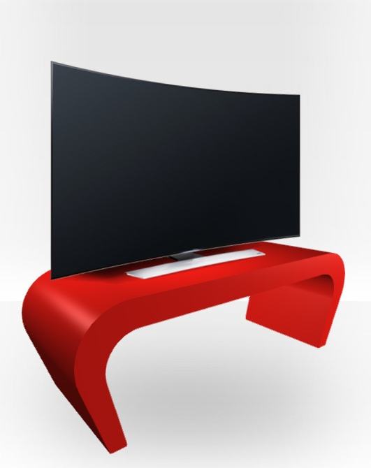 Awesome Famous Red Gloss TV Stands Within Red Gloss Tv Stand Wedge Free Uk Delivery Zespoke (Image 7 of 50)
