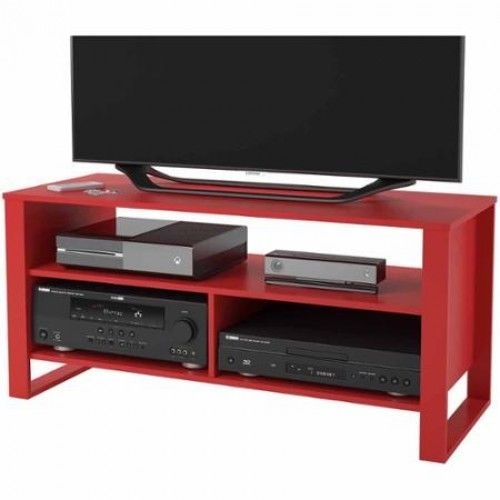 Awesome Famous Red Modern TV Stands Intended For Red Tv Stand Entertainment Center Media Console Modern Home (Image 1 of 50)