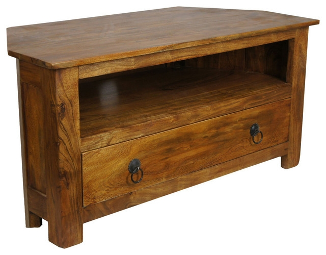 Awesome Famous Sheesham TV Stands Intended For Sheesham Corner Tv Stand Asian Tv Stands Units Eco (Image 8 of 50)